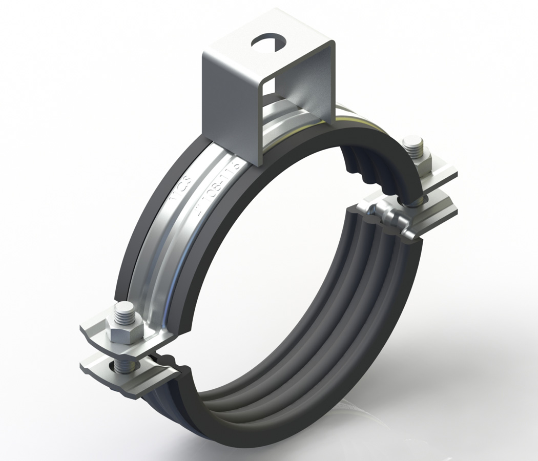 Stainless Clamp With Nut (With Rubber)