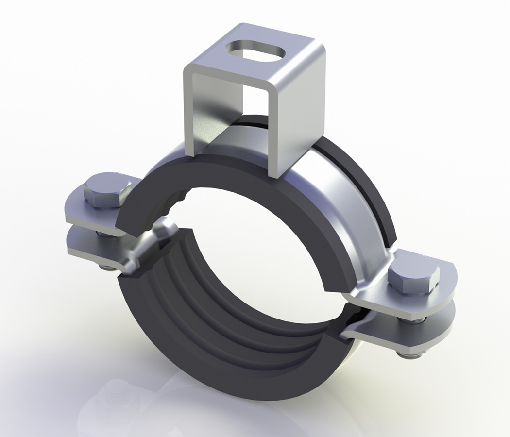 Clamp With Heavy Load Nut (With Rubber)